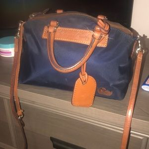 Dooney & Bourke new long/short strap navy blu mini